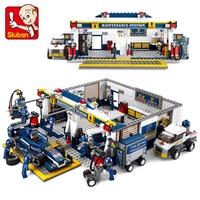 Sluban Model Toy Compatible With Lego B0356 741pcs F1 Track Service Model Building Kits Toys Hobbies