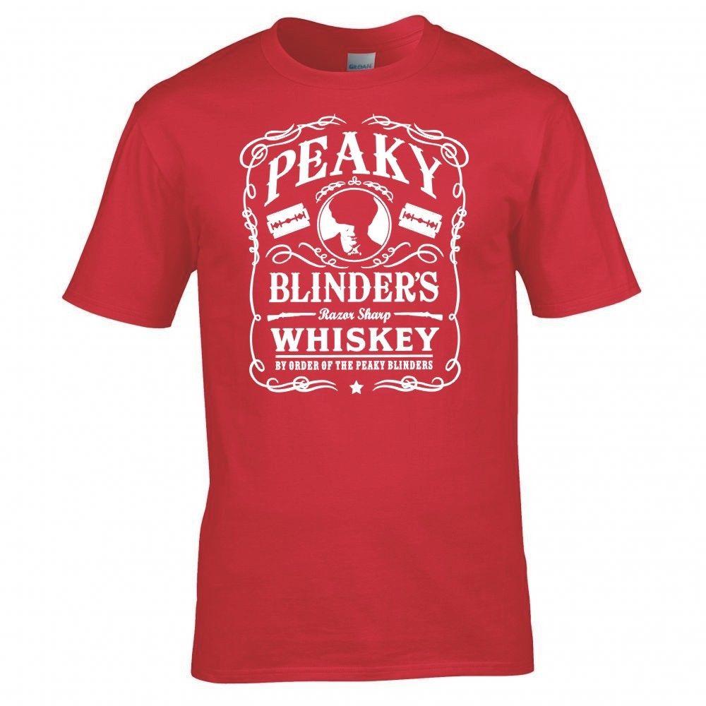 PEAKY BLINDERS INSPIRED quot WHISKEY LOGO quot T SHIRT Print T Shirt Mens Short Sleeve Hot Print T Shirt Mens Short Sleeve Hot in T Shirts from Men 39 s Clothing