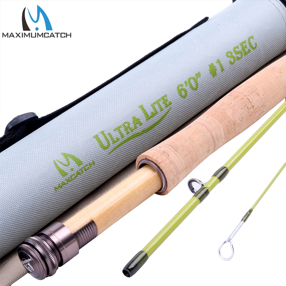 цена Maximumcatch Light Fly Fishing Rod 30T Carbon Middle Fast With Cordura Tube For Small Stream Creek 6'/6'6''/7'/7'6'' 1/2/3WT