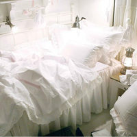 Элегантный Европейский вышитые постельные принадлежности подсолнух Постельное белье ручной работы кружева покрывало Атлас хлопок свадеб