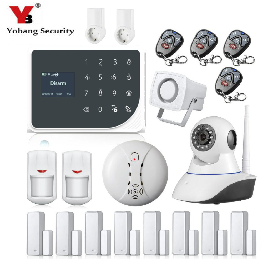 YoBang Security WIFI GSM Smart Home Safety Alert System Russian Spanish SMS Call APP font b