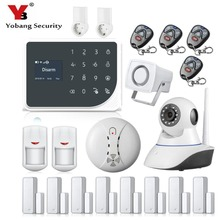 YoBang Security WIFI GSM Smart Home Safety Alert System Russian Spanish SMS Call APP Alarm Intelligent Socket Control Home APP.