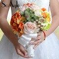 SoAyle Горячий продавать Свадебный Букет 2016 свадебные букеты 23 см * 28 см 0.6 Кг много суккулентов цветы свадебные цветы