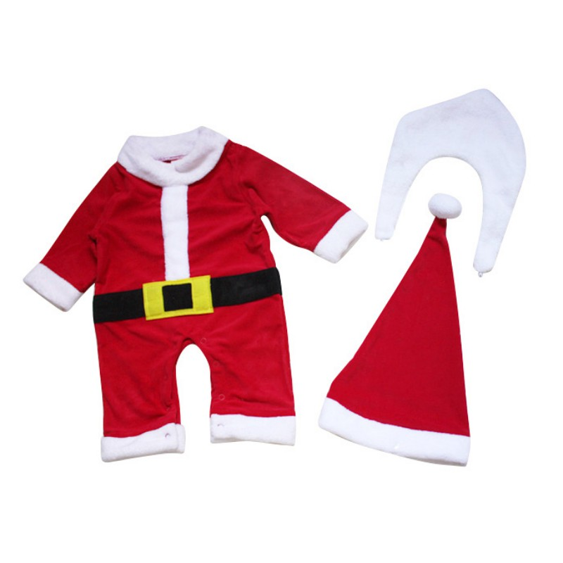 Winter Christmas Santa Claus Baby Clothes Baby Costume Bodysuit Newborn Kids Pajama Infantil Clothing Jumpsuit
