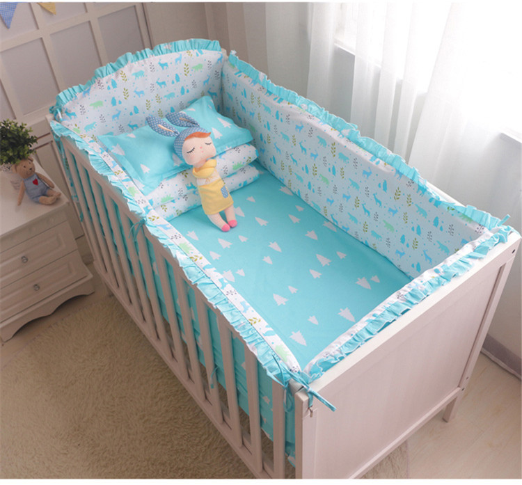 Promotion! 6/7PCS  Children Baby Bedding Set for Summer,Baby Crib Bedding Set,Baby Cot Protection, 120*60/120*70cm promotion 6 7pcs cot bedding set baby bedding set bumpers fitted sheet baby blanket 120 60 120 70cm