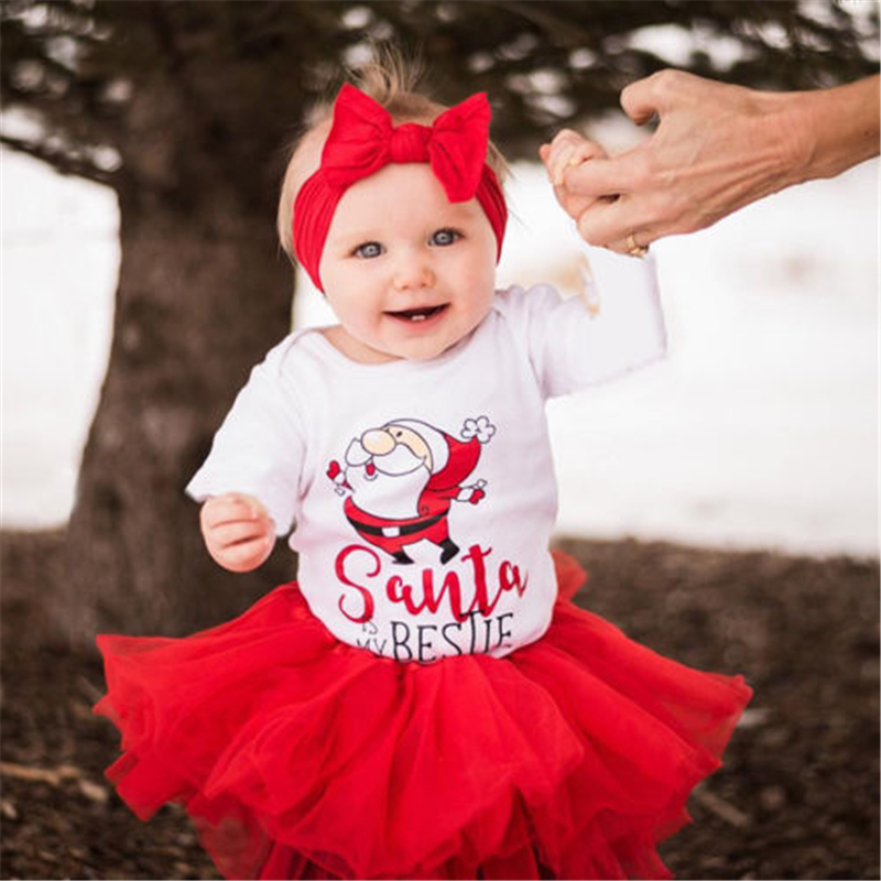 Christmas Baby Cotton Romper+Headband Newborn Baby Girls Santa Xmas Long Sleeve Romper 2017 New Body Suit For Newborns Jumpsuit soehnle весы напольные comfort senso 33 2x33 2x2 6 см