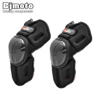 PRO BIKER Motorcycle Riding Knee Pads With Stainless Steel Shell Motocross Off Road Racing Knee