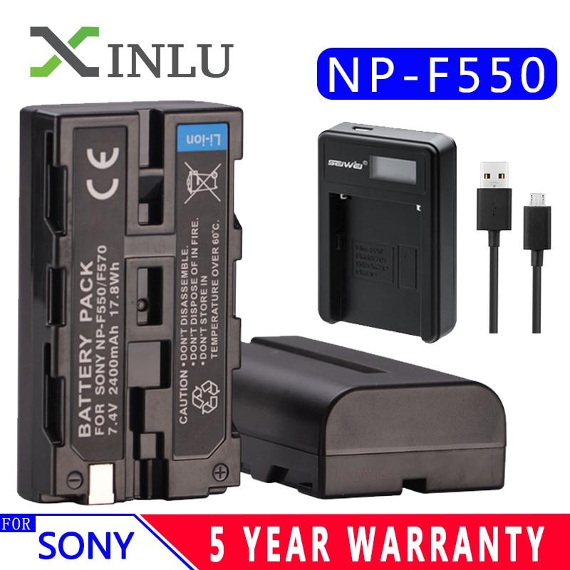 7,4 V Np-f550 Np-f570 Digital Kamera Batterie 2400 Mah Mit Ladegerät Np-f330 Np-f530 Aufladbare Für Sony Ccd-sc55 Ccd-trv81 Mvc-fd81 Batterien