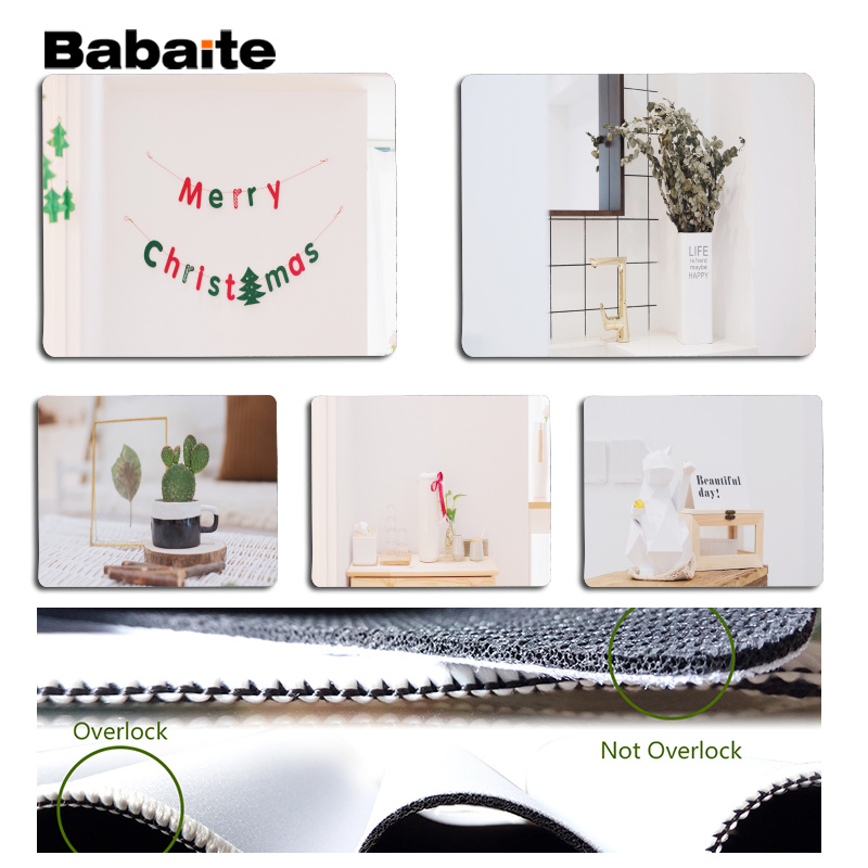 Babaite Top Quality Cozy Large Mouse pad PC Computer mat Size for 18x22cm 25x29cm Rubber Mousemats