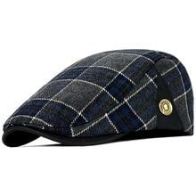 New High Quality Retro Adult Berets Men Wool Plaid Cabbie Flatcap Hats for Women's Newsboy Caps