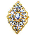 7 # Богатые Синий Фиолетовый Танзанит, белый CZ SheCrown женщины Свадьба Создания Золото Серебро Кольцо 42 х 28 мм