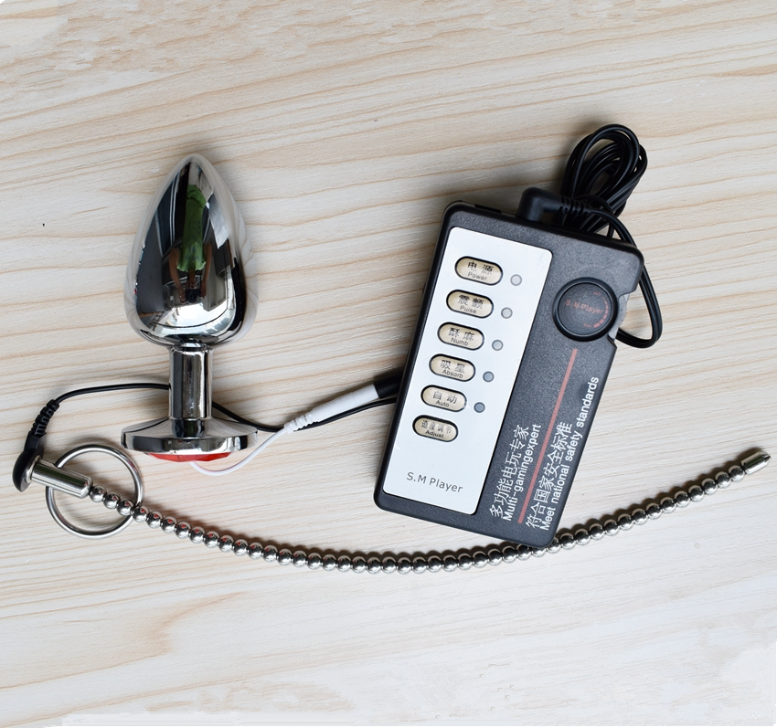 ZENBALA Urethral Penis Plug Electro Shock Sound Stretcher 260mm Stainless Steel 6mm