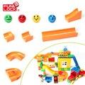 12 unids Legoe FUNLOCK Duplo Marble Run Paquete Bloque Educativos Juguetes Creativos Para Niños