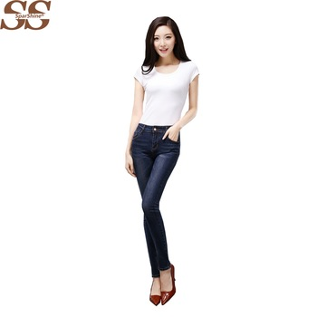 2017  Femme Skinny Jeans Middle Waist High Quality  European And American Style Casual Wear Plus Size Popular
