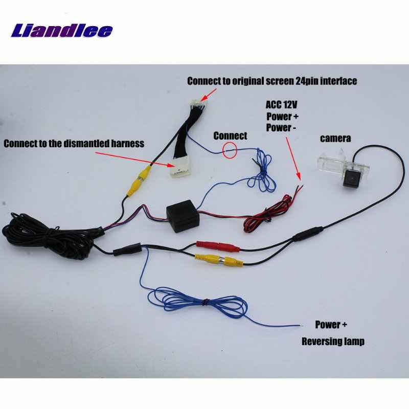 Liandlee para Renault Stepway para Dacia Sandero RCA Cable adaptador cámara de visión trasera Cable de entrada de pantalla Original