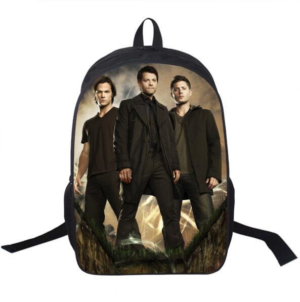 ТВ-шоу Сверхъестественное рюкзак Сэм Дин Кастиэль Школьные ранцы для подростков Для мужчин Для женщин ежедневно рюкзак Обувь для мальчиков...