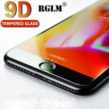 RGLM 9D protective glass for iPhone 6 6S 7 8 plus X on iphone R XS MAX screen protector protectio