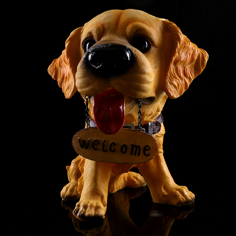 Continental Refinement Fashion Listing Hostess Dogs Personality Cartoon HOME Decoration Creative Resin Artware Collection L995 зимняя шина continental contivikingcontact 6 225 55 r17 101t