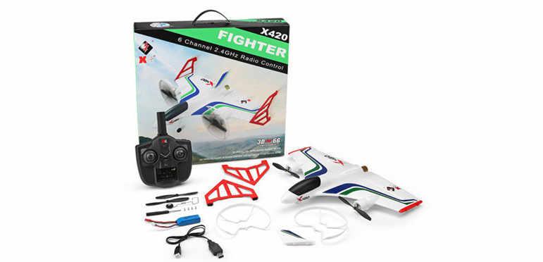 XK X420 2.4G 6CH 420mm 3D6G VTOL pionowy start i lądowanie EPP 3D akrobacyjny FPV RC samolot RTF z nadajnikiem