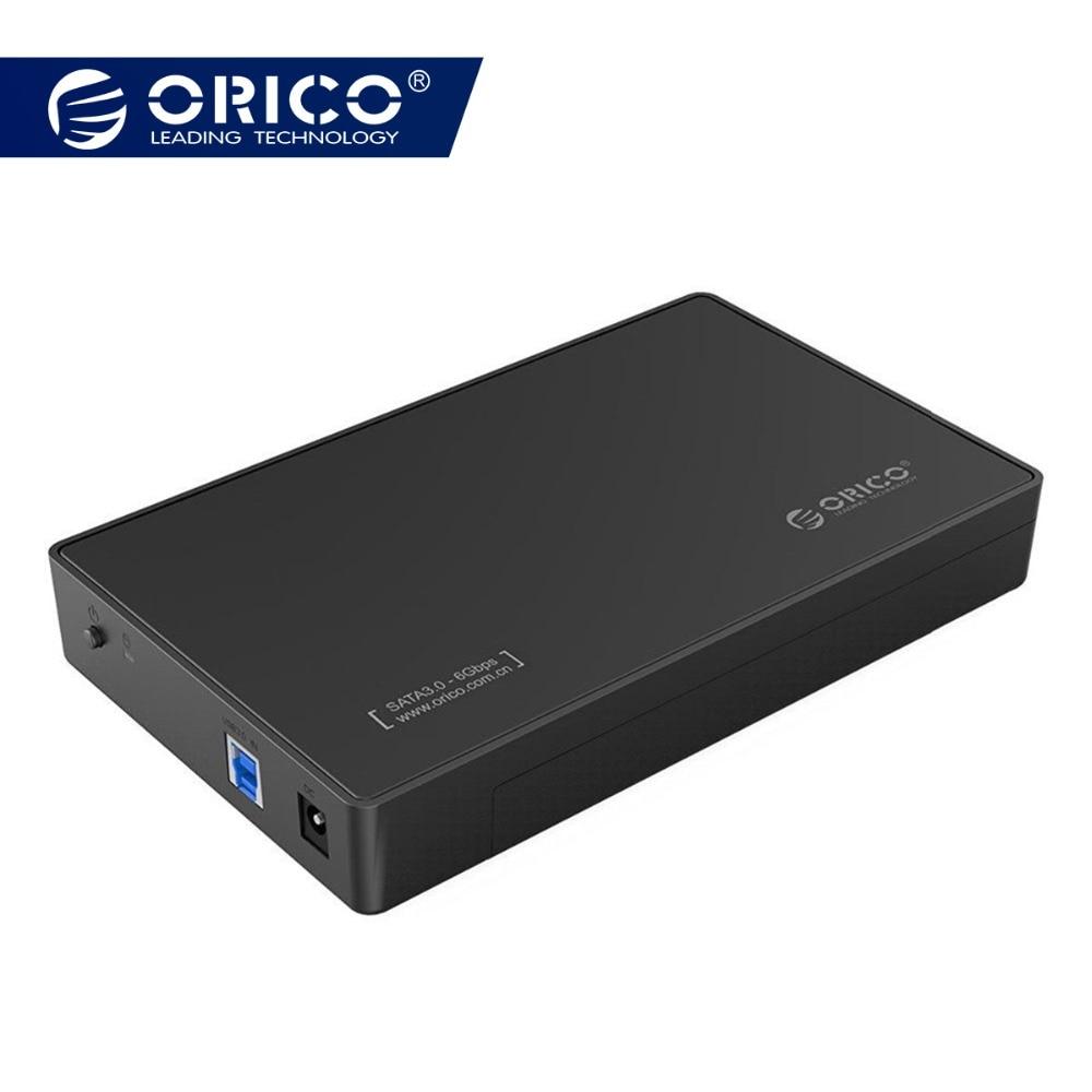 Casing Kandang HDD 3,5 Inch, USB 3.0 5Gbps ke SATA, Mendukung UASP dan 8TB Drive yang Dirancang untuk PC Desktop Notebook (ORICO 3588US3)