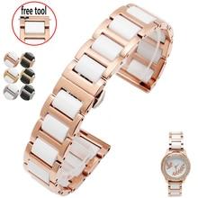 Hohe qualität Keramik armband Für Fiyta Vier kleeblatt wasserdichte mechanische armband femal armband 14mm 16mm 18mm