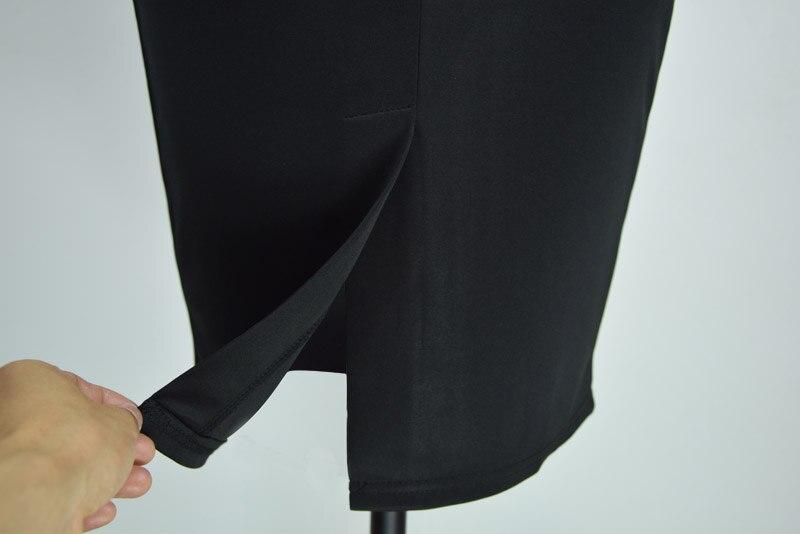 1a49ea19145f 2016 Elegante Estilo Europeu Lady Trabalho Vestido Do Escritório De Moda  bloco de Cor Geométrica Lápis Bandage Vestido Sem Mangas Mulheres Verão em  Vestidos ...