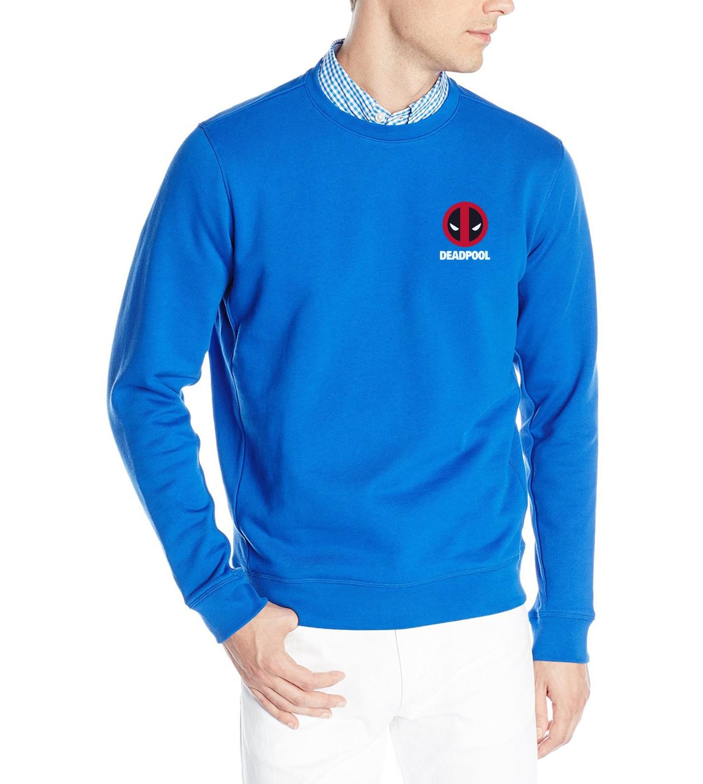 2019  fitness hip-hop pullovers men's marvel deadpool printed hoodis fashion o-neck brand tracksuit autumn winter sweatshirts