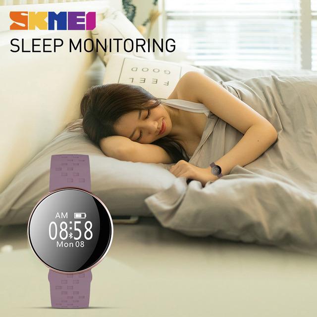 SKMEI B16 Women New Smart Watch for IOS Android with Fitness Sleep Monitoring IP67 Waterproof Remote Camera Relogio Feminino