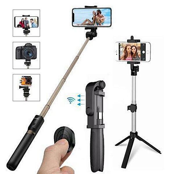 4 em 1 Sem Fio Bluetooth Selfie Vara com Controle Remoto para iPhone Samsung Huawei @ JH