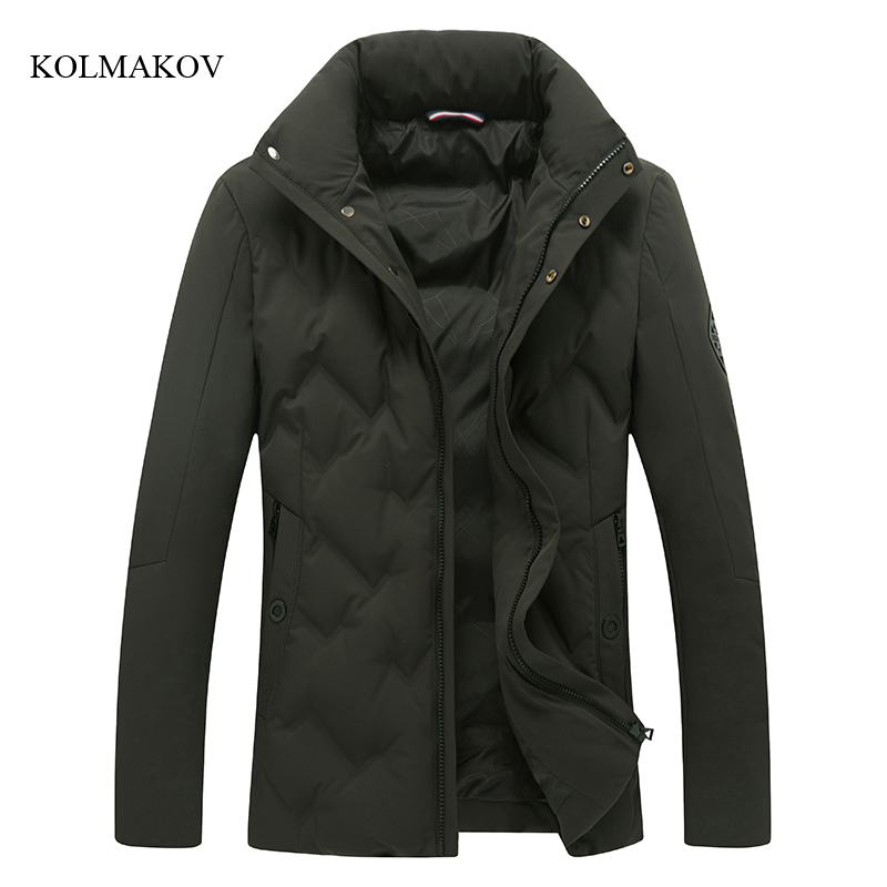 2017 new arrival winter style men boutique down coats fashion casual slim stand collar coat mens solid dress coat size M-3XL