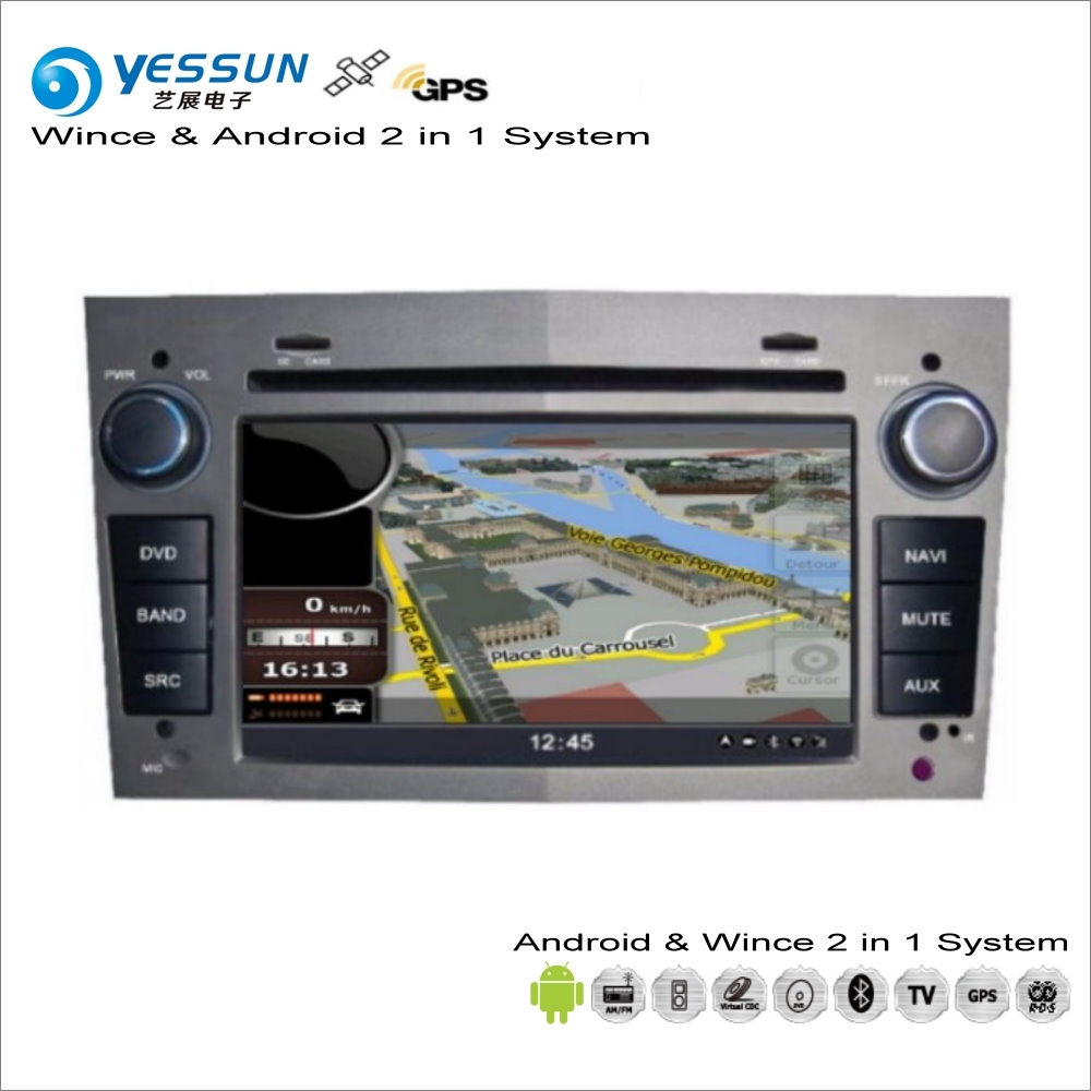 YESSUN For <font><b>Opel</b></font> Combo / <font><b>Corsa</b></font> D / Meriva A / Vectra C 2001~<font><b>2014</b></font> - Car <font><b>Radio</b></font> CD DVD Player GPS Navigation Wince & Android System image
