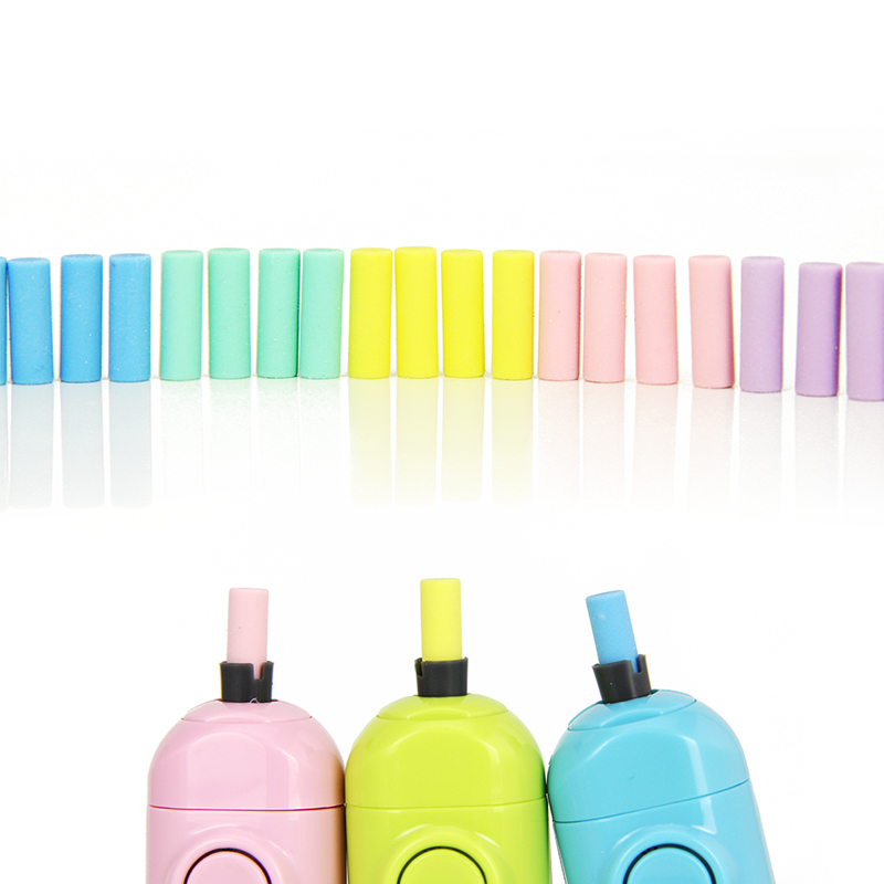 20Pcs Cute Electric Eraser Refill Kawaii Pencil Rubber Mini Eraser For Automatic Eraser Stationery Painting Erasers Replacement