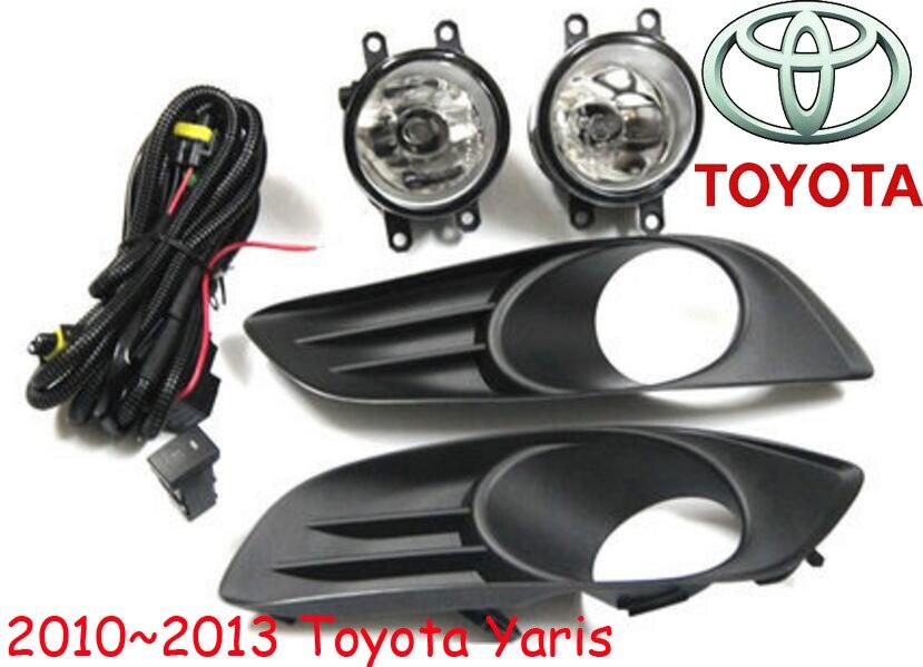 ФОТО car-styling,Yaris halogen light,2006~2013,Free ship!2pcs/set,Yaris fog light;car-covers,Yaris headlight,Yaris L