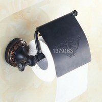 Bathroom Accessory Black Oil Rubbed Brass Wall Mounted Toilet Paper Roll Holder Aba476