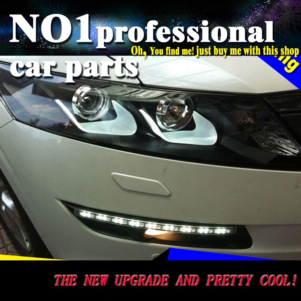 Car styling 2011 2012 for honda crosstour headlights led head lamp drl front bi xenon
