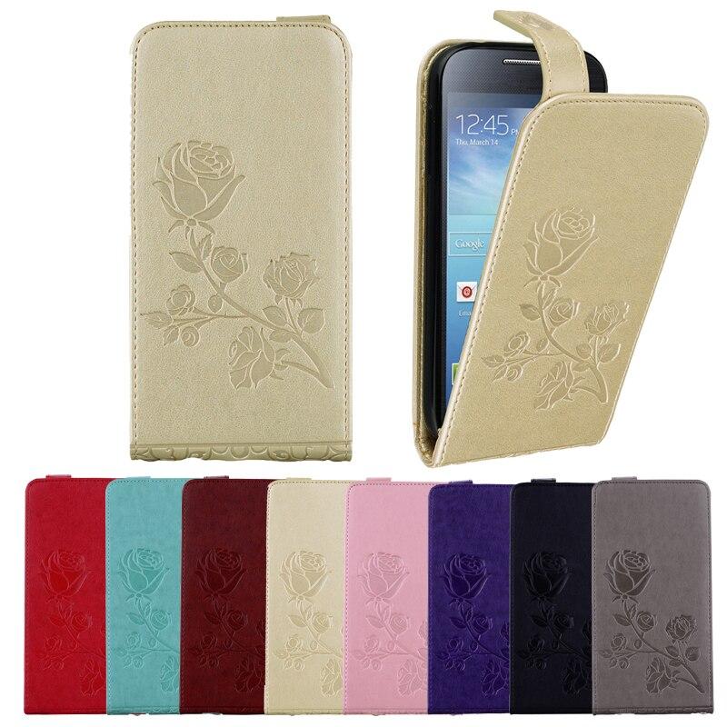 65cefa68bae Para Samsung S4 casos teléfono Flip funda cuero cartera caso para Samsung  Galaxy S4 S IV i9500 9500 i9505 i9508 funda con bolsa de soporte