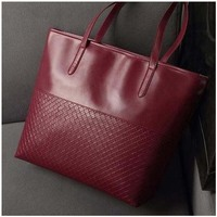 Knitting Handbags Ladies Party Purse Wedding Clutches Vintage Women High Quality Shoulder Shopping Bags, Wine red
