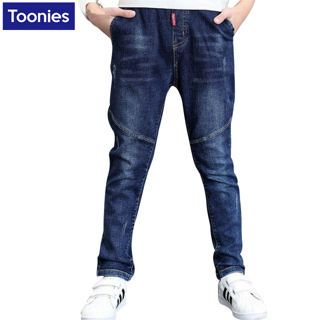 2017 New Spring Autumn Boys Fashion Jeans Children's Elastic Style Jeans Boys Denim Jeans Children Trousers Boys Clohtes