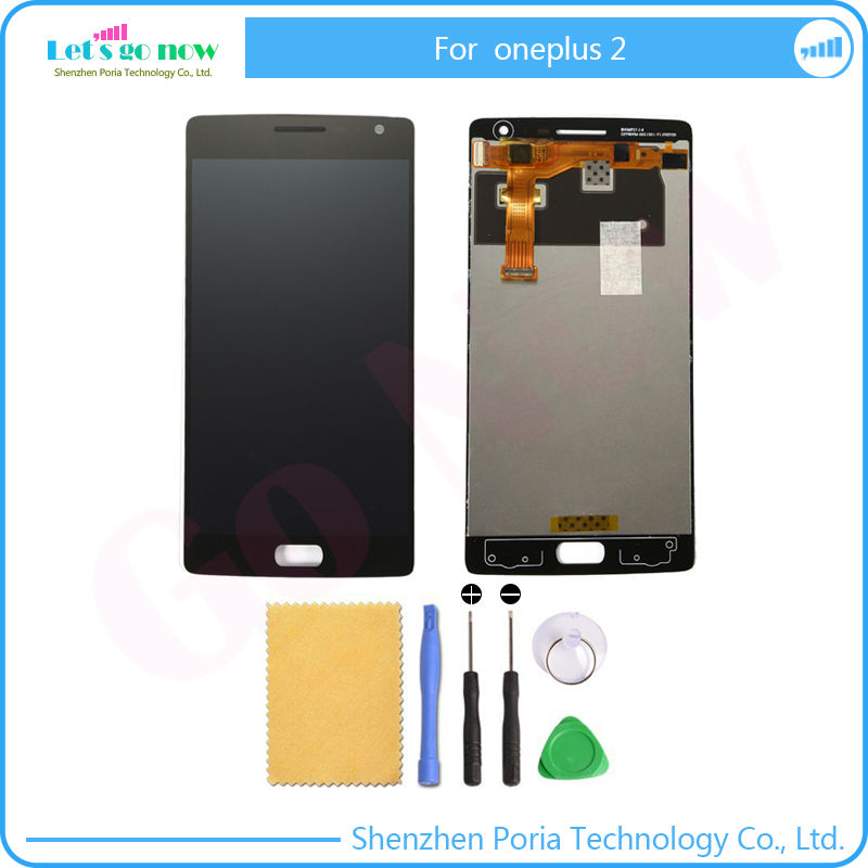 NEW LCD Display Touch <font><b>Screen</b></font> Digitizer Full Assembly <font><b>Replacement</b></font> Parts For <font><b>Oneplus</b></font> <font><b>2</b></font> One Plus <font><b>2</b></font>+Free Tools image