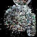 Ослепительный Макияж Блеск Цветные Nail Art Блеск Mix DIY Маникюр 3D Пыли Порошок Смешанных Цветов Блестки Для Ногтей Продукты 259