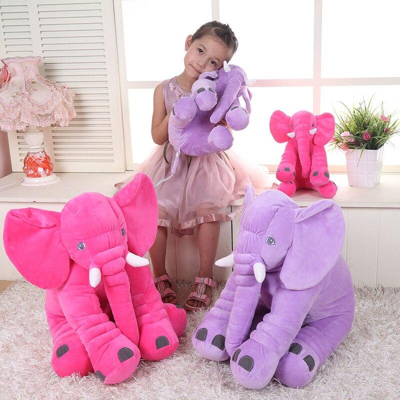 VILEAD Super Soft Plüschtier Elefant Schlafkissen für Kindersicherheit Komfortable Puppe Home Seat Dekorative Tier Dekokissen