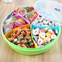 1Pcs 4 Slots Snacks Storage Box Case Organizer Display Candy Nuts On Holidays DIY Food Containers
