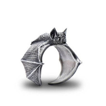 Vintage Bat Rings Fashion Retro Style Adjustable Bat Rings For Women Men Bat Jewellery