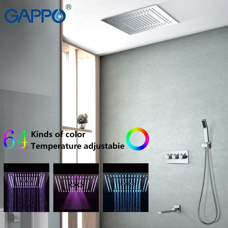 GAPPO robinet de douche salle de bain LED cascade salle de bain ensemble de douche robinet mitigeur de douche mitigeur mural grifo ducha