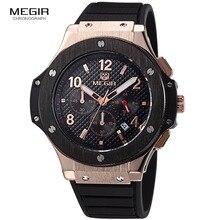 MEGIR heiße beiläufige quarz uhren herrenmode wasserdichte sport lauf uhr für mann chronograph radfahren armbanduhr für männer 3002G