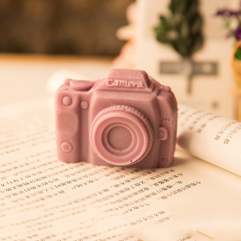 3D Camera Shape Handmade Silicone Soap Mold DIY Aroma Plaster Crafts Candle Resin Soap Mould