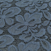 Navy blue lace fabric floral design soft and thick 230g/meter 140cm width,LC005(China)