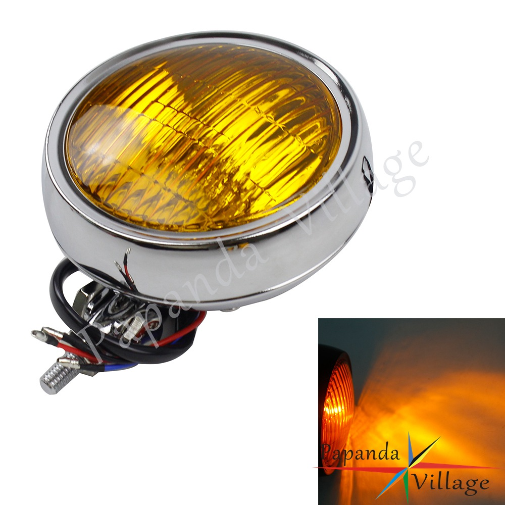 Universal Retro Motorcycle Headlight Waterproof Cafe Racer Headlamp Custom For Harley Yamaha Suzuki Kawasaki Chopper Street Bike
