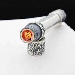 S925 серебро зажигалки ручной резьбой Сянюнь цилиндрические портативный Электрический розлива
