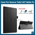 Чехол для Lenovo Tab 3 8 ТВ3 850F/TB3-850M высокое качество PU кожаный чехол чехол для lenovo tab 2 A8-50 A8-50F A8-50LC + бесплатная 3 подарки